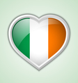 Irish heart icon vector image