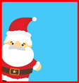 Santa claus on blue background vector image