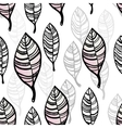 Watercolor stylized leaves seamless pattern vector image