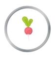 Radish icon cartoon Singe vegetables icon from vector image