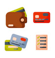 flat money wallet icon check list making purchase vector image