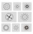 monochrome icons with rackwheel vector image