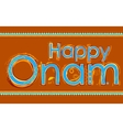Happy Onam background vector image vector image