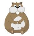 Cartoon character hamster vector image