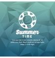 Summer design float icon polygon vector image