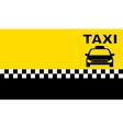 business taxi card vector image