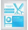 Business card Hairdresser vector image