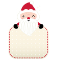 Cute retro red Santa greeting with banner vector image