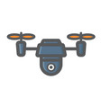 Drone colorful line icon fly and copter vector image