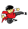 Flying Kick vector image