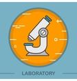Microscope color icon vector image