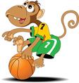 Monkey playing basketball vector image