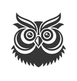 Owl Hipster Simple Style Logo on White Background vector image