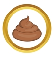 Piece of turd icon vector image