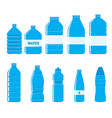 plastic bottles icon set on white background vector image
