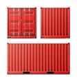 red cargo container  classic cargo vector image