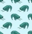 Shrimp isometric seamless pattern Marine plankton vector image