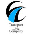 transportation company logo vector image