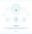 Upload cloud Concept network design vector image