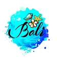 Welcome to Bali concept in vintage graphic style vector image