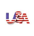 USA symbol USA flag icon vector image vector image