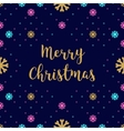 Trendy hipster Merry Christmas Card with vector image