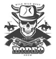 vintage wild west rodeo template vector image