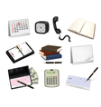 Big collection of office supplies vector image vector image