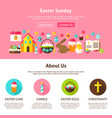 web design easter sunday vector image