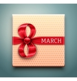 Gift for 8 March vector image vector image