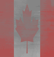 Shabby Flag of Canada vector image
