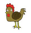 comic cartoon chicken vector image