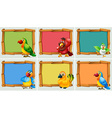 Frame design with parrots vector image vector image