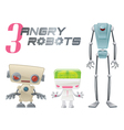 Angry Robots vector image