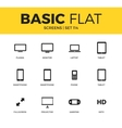 Basic set of Device screen icons vector image