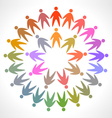 circle of colorful people pictogram vector image