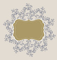 flourish calligraphy vintage frame vector image