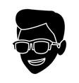Man with sunglasses cartoon vector image