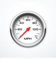 Realistic speedometer isolated vector image