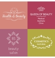 Set of logos and symbols for beauty vector image
