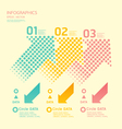 dots arrows soft color vector image