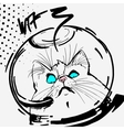 cat space graphic line cartoon vector image