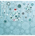 Blue background with christmas balls EPS 8 vector image vector image