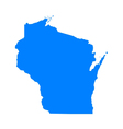 Map of Wisconsin vector image