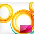 colorful swirl motion design concept vector image vector image