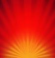 Red Sunburst Poster vector image
