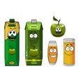 Happy cartoon apple juice vector image