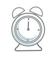 alarm clock time alert hour icon vector image