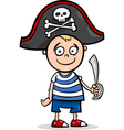 Boy in pirate costume cartoon vector image