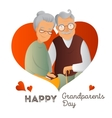 Grandparents Day design template vector image